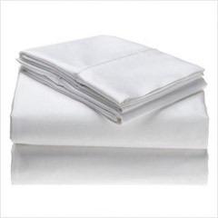 sabana institucionales blanco con embone color cama sencillo