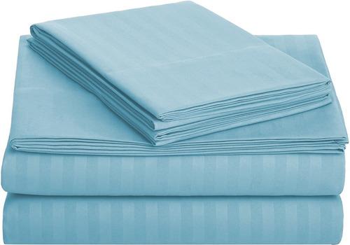 sábana king size 1800 hilos, microfibra grabada ultra suave