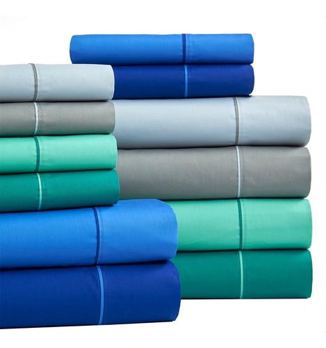 sabanas 2 1/2 plazas danubio colors 220 hilos puro algodon q
