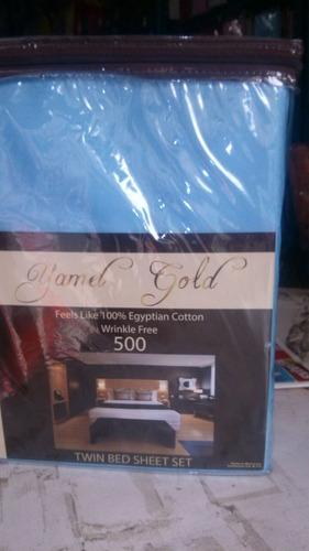 sábanas 500 hilos matri. yamel gold envío gratis