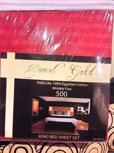 sábanas 500 hilos matrimonial yamel gold envio gratis