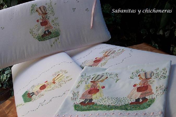Sabanas chichoneras para bebe pintadas a mano en mercado libre - Sabanas para bebes ...