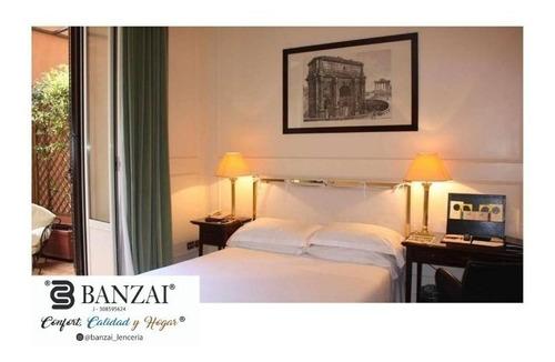 sabanas hoteleras king, posadas, hoteles clínica (3 piezas)