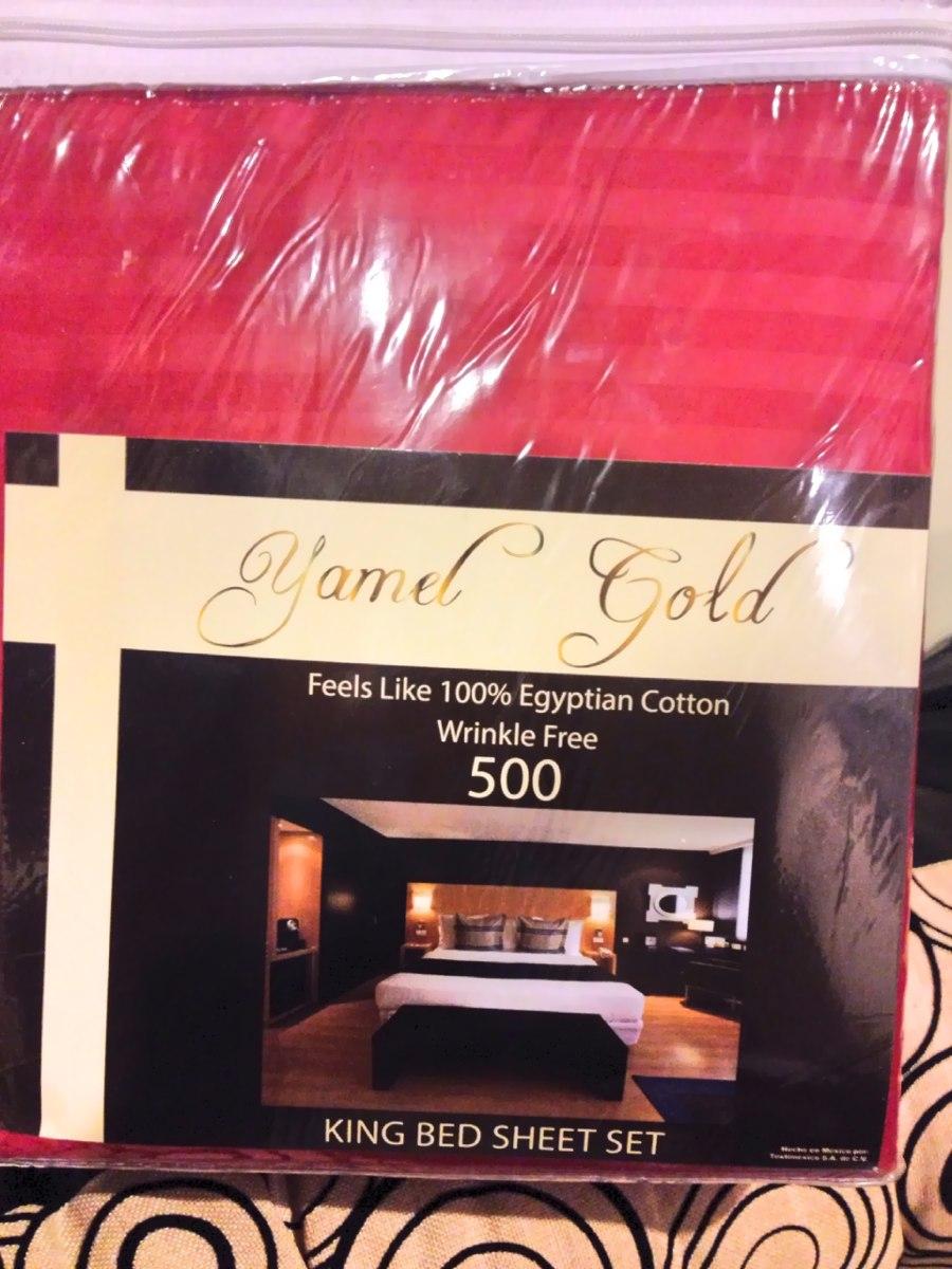 S banas 500 hilos king size yamel gold envio gratis for Sabanas para cama king size