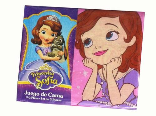 sabanas piñata princesita sofia 1 1/2 plazas