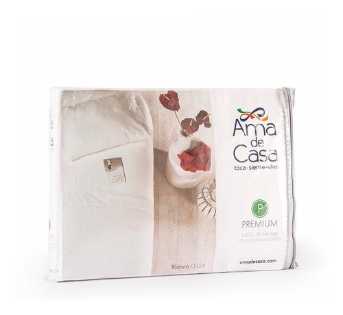 sábanas premium ama de casa individual