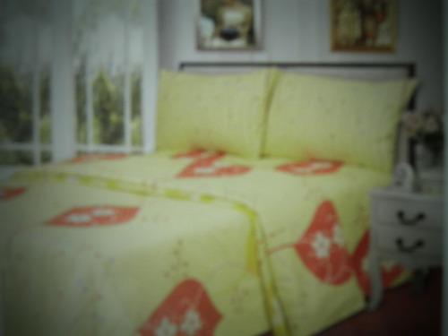 sabanas queen con diseño 100% poliester casa luna de calidad