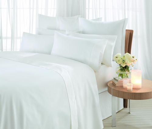 sábanas queen premium hotel saten bordadas 4 fundas import