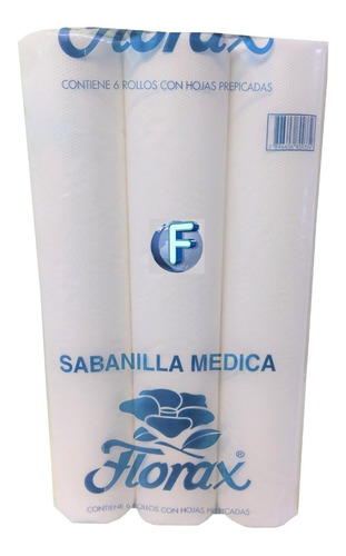 sabanilla desechable papel x6 rollos / futuro