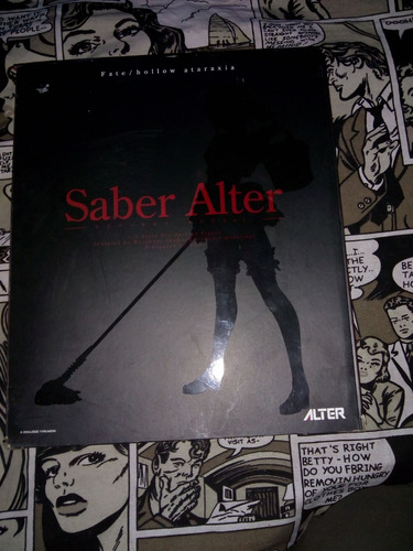 saber alter - fate/hollow ataraxia uniforme rosa , muy raro