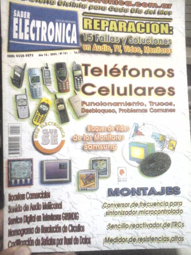 saber electronica año 16 - 2003 - n°191
