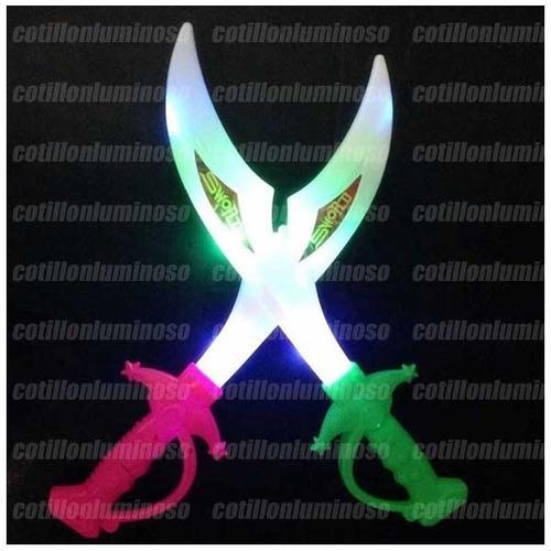sable espada luminoso led varita nenes cotillon pirata