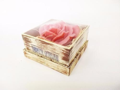 sabonete artesanal - caixa decorativa em madeira com tampa