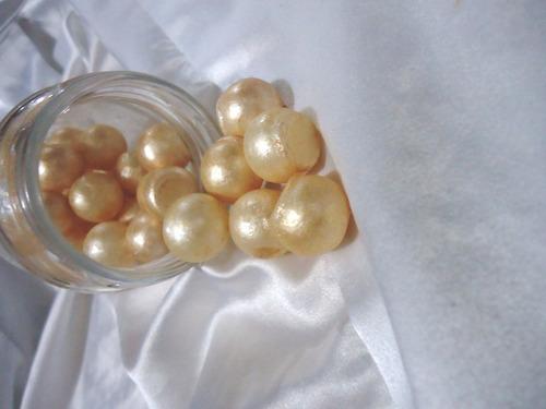 sabonete artesanal-vidro de pérolas- luxo
