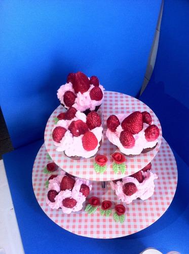 sabonete em formato de cupcake