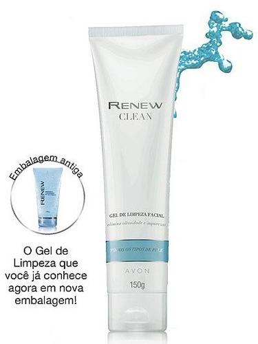 sabonete gel limpeza facial- renew clean avon