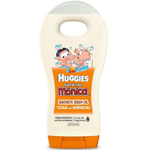 sabonete liquido cream oil toque de amêndoas bebe huggies