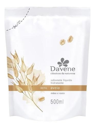 sabonete líquido davene refil 500 ml aveia (kit/03 un)