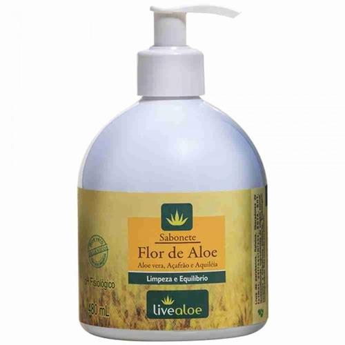 sabonete liquido natural flor de aloe live aloe