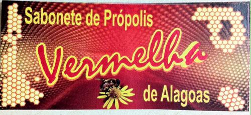 sabonete própolis vermelha alagoas 10 und (ùnica no mundo.)