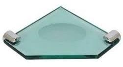 saboneteira  canto vidro 10mm - banheiro
