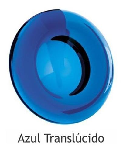 saboneteira oval -  azul translúcido