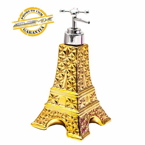 saboneteira torre eiffel porcelana líquido decoração retrô