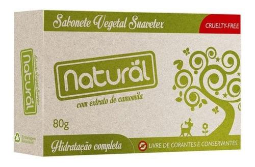sabonetes vegetal natural com extrato de camomila 80g