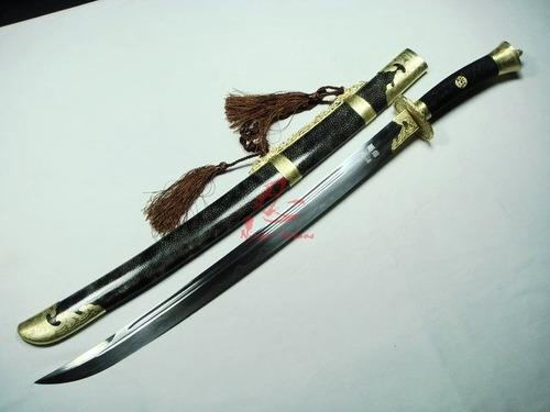 sabre chines espada forjada montanhas da china certificado