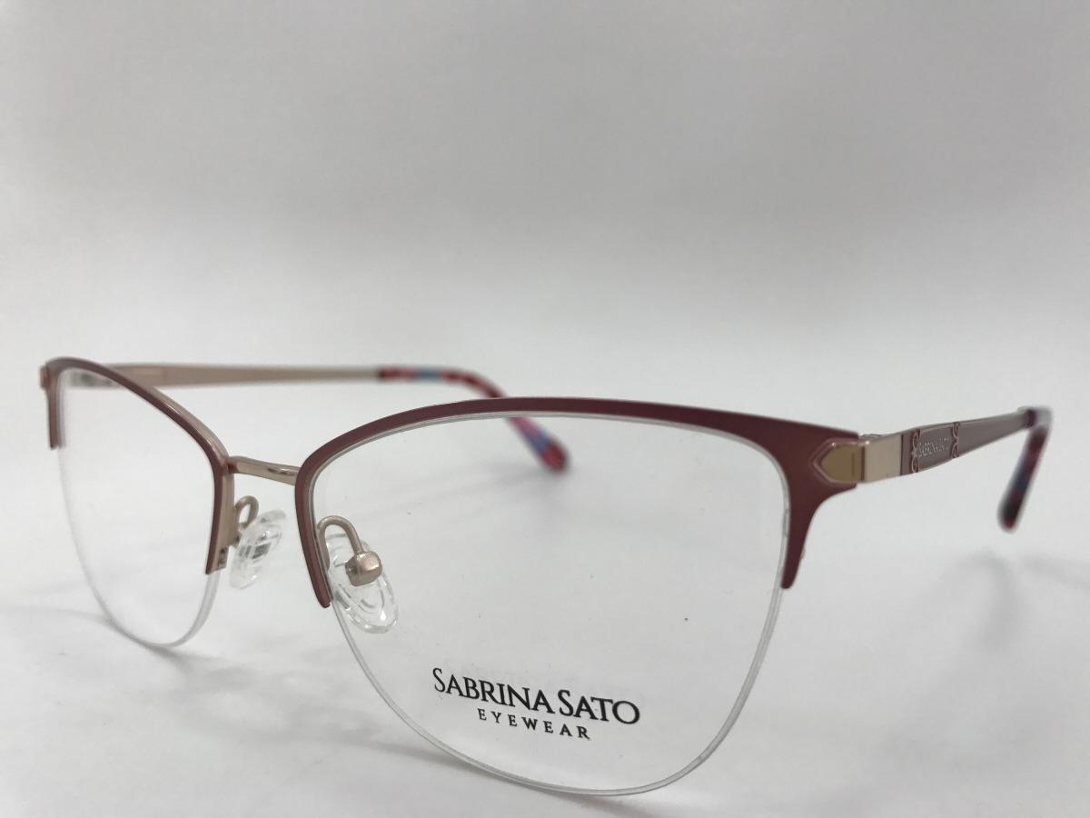 3f689153b Sabrina Sato Óculos Sj6004 C4 54 17 135 - R$ 248,00 em Mercado Livre