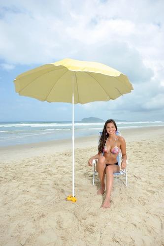 saca areia c/ suporte p/ guarda-sol e vara de pescar - mor
