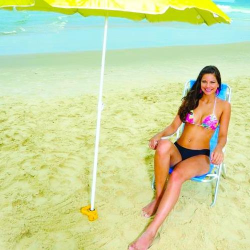 saca areia para abrir furo guarda sol s/ suporte vara pescar