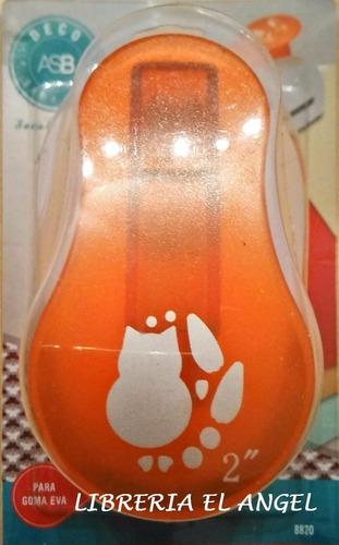 sacabocados con forma de buho perro gato o para goma eva 5cm