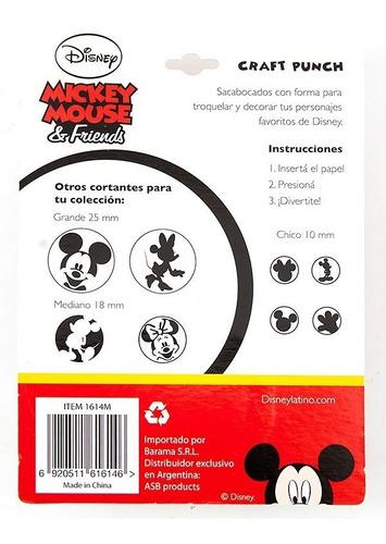 sacabocados con forma mickey mouse 10mm - varios modelos