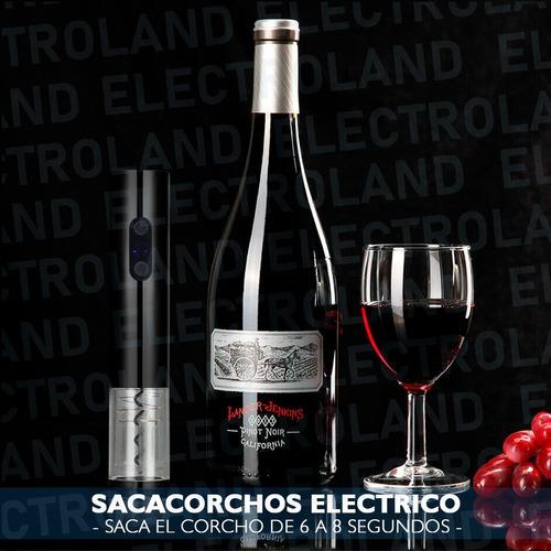 sacacorchos electronico abridor vinos destapador recargable