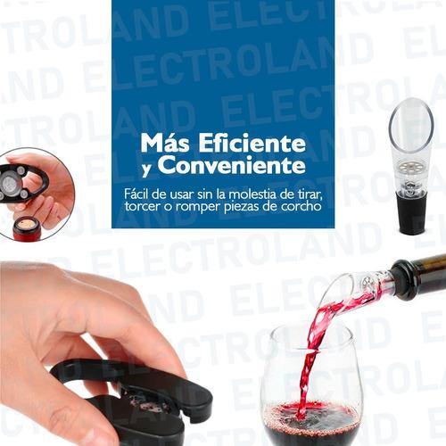 sacacorchos kit destapador neumático para vinos ideal regalo