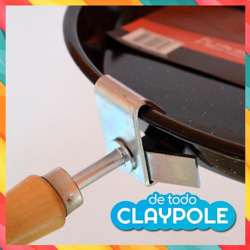 sacafuente metal reforzado con mango madera jovifel