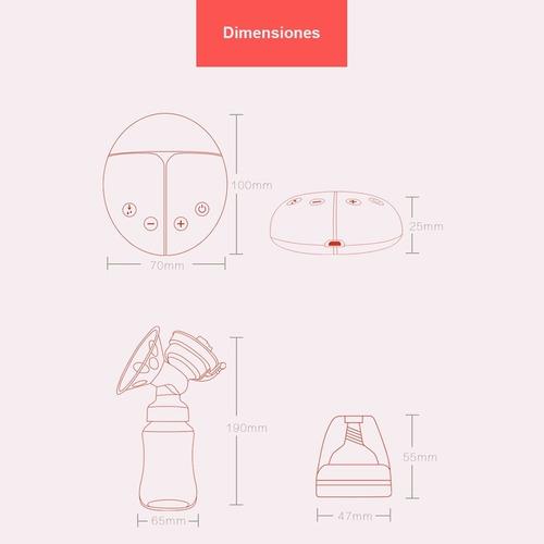 sacaleche extractor de leche materna eléctrico doble