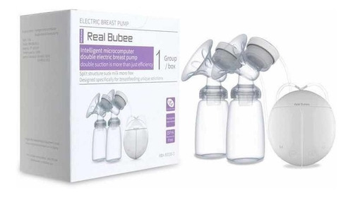 sacaleches-extractor doble electrico real bubee + 30 bolsas