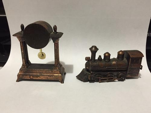 sacapuntas antiguos vintage ferrocarril reloj metalicos