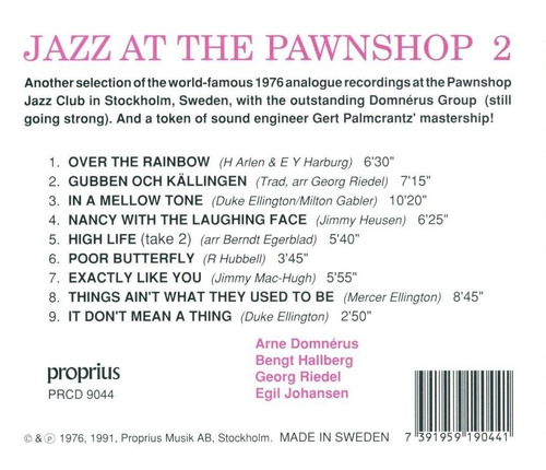 sacd : arne domn rus - jazz at the pawnshop, vol. 2 (sacd)