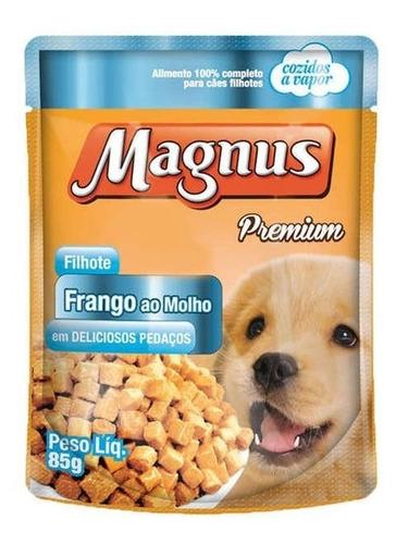 sache magnus frango para cães  filhote - 85 g