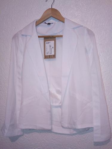 saco 11831 blazer como capa blanco moda nacional rinna ma
