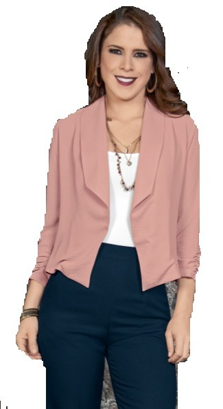 best website 60bbd edc65 Saco 550141 Blazer Rosa Palo Moda Nacional