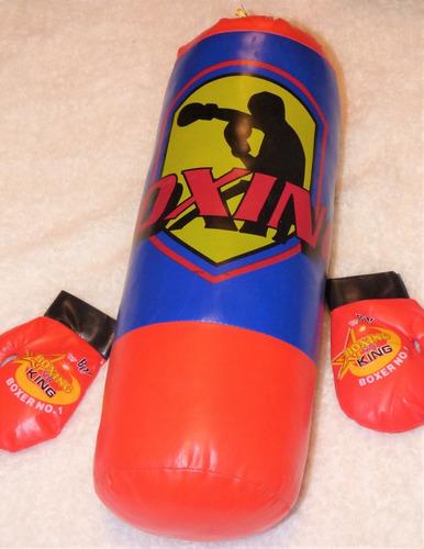 saco 57 cm + guantes boxeo infantil