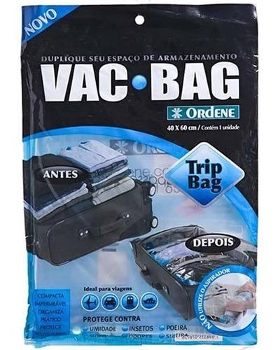 saco a vácuo protetor e organizador trip bag 60 x 40 ordene