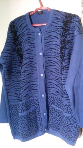 saco azul de lana industria boliviana