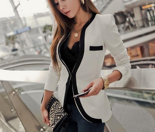 saco blanco y negro moda japonesa europea envío gratis