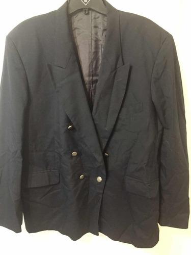 saco blazer hombre casaca traje macowens xl azul oscuro