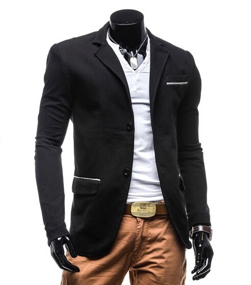 51d60c82db78b Saco Blazer Hombre Casual Moda Slim Fit Juvenil Sexy Coderas - U S ...